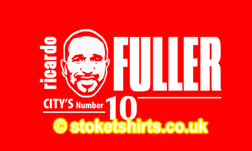Ricardo Fuller City's No. 10 Jamaican & Stoke City Legend. He Wears the red and white with pride...