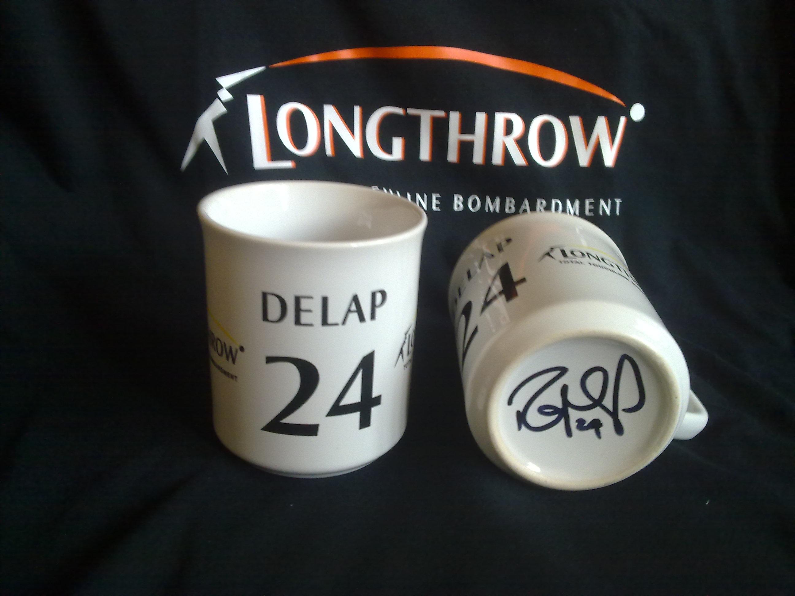 Stoketshirts.co.uk Longthrow Mug Signed by Rory Delap