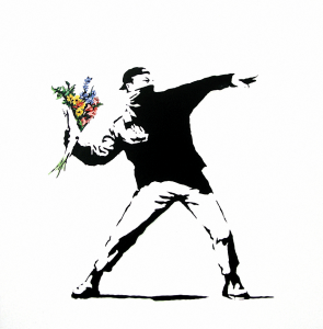 Banksy - Flower Thrower